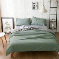 北欧ins超柔床上用品床单四件套素色家纺 被套180X220,床单230X230,枕套47X2