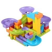 小睿睿玩具 小颗粒滑道积木 79颗粒+底板