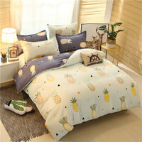 家纺床上用品植物羊绒棉磨毛四件套三件套被套床单