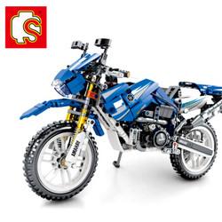森宝积木 799pcs 机械科技件立体模型6岁男孩拼插拼装玩具亚玛哈摩托车799pcs