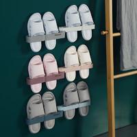 浴室拖鞋架免打孔壁挂式卫生间厕所放拖鞋架墙壁洗手间收纳神器