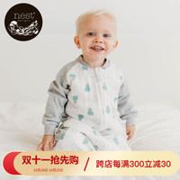 Nest Designs宝宝睡袋 婴儿分腿睡袋拼接款包被新生儿秋冬 河马宝贝 90码(M码,建议身高80-90cm)