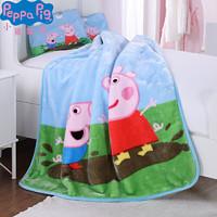 Peppa Pig 小猪佩奇儿童男女孩宝宝幼儿园3-6周岁卡通被子午睡盖毯空调被 不带枕头 *2件