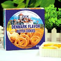 马来西亚进口 ZEK丹麦风味黄油曲奇饼干90g/盒 办公室休闲食品 进口零食 *2件