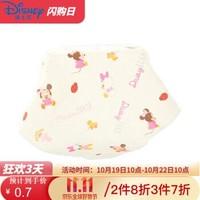 迪士尼纯棉纱布方巾婴幼儿手帕口水巾米奇米妮吸汗巾柔软A类标准 米妮 30*30cm *14件
