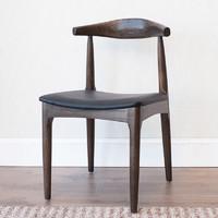 治木工坊 纯实木餐椅 白蜡木实木PU椅子 电脑椅餐椅扶手躺椅阳台