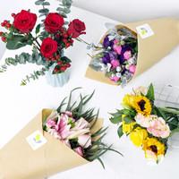京东PLUS会员 : REFLOWER 花点时间 自然·混合 鲜花订阅 每周一花 订一个月