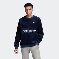 adidas 阿迪达斯 CORD SWEATSHIRT EC9317 男装卫衣 (深靛蓝、XL)