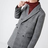 SELECTED 思莱德 418427A34 男士羊毛混纺大衣