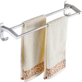 免打孔毛巾架浴室太空铝浴巾架卫生间毛巾挂架加长单杆双杆毛巾杆