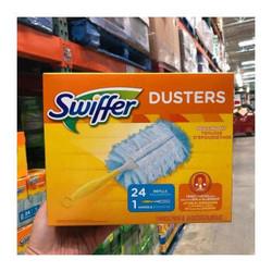 现货 美国Swiffer Duster 180度神奇除尘掸24张+1手柄 24张(带手柄 无味)