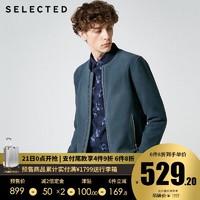 预售SELECTED思莱德男冬羊皮反绒潮流棒球领皮衣外套C|418310514