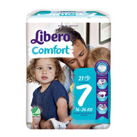 Libero 丽贝乐 婴儿纸尿裤 XXL号 21片 *6件