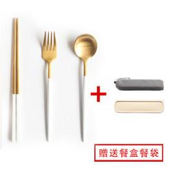 304不锈钢勺叉筷三件套