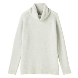 无印良品 MUJI 女式大樽领毛衣