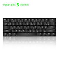 富勒(Fuhlen) G610机械键盘 Cherry樱桃轴 有线/无线双模游戏办公键盘 61键背光 黑色(蓝牙有线双模) 红轴