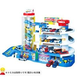 多美(TAKARA TOMY)430865CN TOMY多美卡汽车大楼合金小汽车电动轨道套装