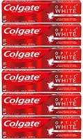 Colgate Optic White *牙膏,闪闪发光薄荷 - 5 盎司(6 只装)