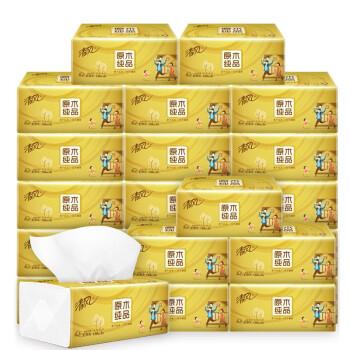 清风 原木金装抽纸 3层*130抽*6包