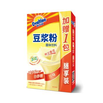 阿华田(Ovaltine)原味少糖30%豆浆风味营养早餐豆浆粉非转基因大豆随身包180g(新老包装随机发货)