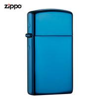 之寶(Zippo)打火機 纖巧藍冰 PVD浸染20494 煤油防風火機