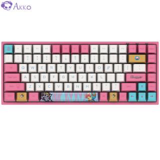 Akko 艾酷 3084 航海王乔巴无线蓝牙双模机械键盘 樱桃红轴 84键