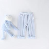 考拉工厂店 天鹅绒卷边长裤73-110厘米 *2件