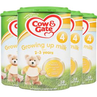 双11预售 : Cow&Gate 牛栏 婴幼儿奶粉 4段 800g*4罐