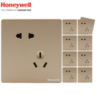 Honeywell 霍尼韦尔 境尚系列金色斜五孔插座 10只装