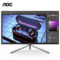 AOC U32U1 31.5英寸 IPS显示器(4K、114%NTSC、HDR600、USB-C)