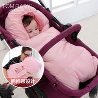 多米贝贝婴儿睡袋秋冬宝宝抱被