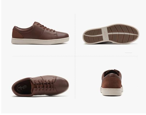 鞋履舒适新体验  Clarks Kitna Vibe 男士休闲皮鞋