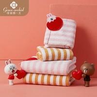Grace·orchid 洁丽雅·兰 纯棉毛巾+方巾 4条