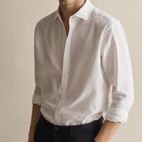 Massimo Dutti 00137101250 男款修身款纹理休闲衬衫