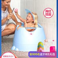 意大利OKBABY儿童洗澡桶可坐立双层小孩沐浴盆宝宝泡澡桶婴儿澡桶