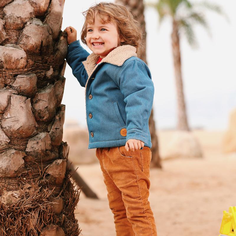 印象童年 儿童加绒牛仔外套