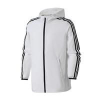 adidas男服外套夹克防风连帽休闲运动服DW4600 L DW4600黑色