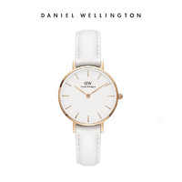 Daniel Wellington 丹尼尔惠灵顿摩登28mm白盘女士白色皮带手表