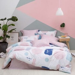 LOVO罗莱家纺 床上四件套纯棉简约北欧风全棉床品套件 玩趣色彩220*240cm