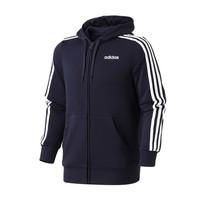 adidas男服夹克外套连帽针织运动休闲运动服DU0471 L DU0471蓝色