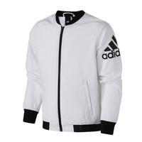adidas男服外套夹克飞行领棒球服休闲运动服DW4588 L DW4588黑色