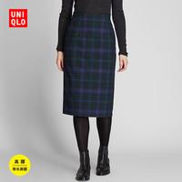 UNIQLO 优衣库 423260 女款高腰格纹紧身裙