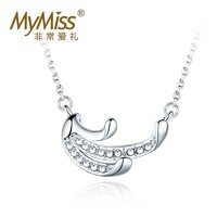MyMiss 镶施华洛世奇石 925银项链