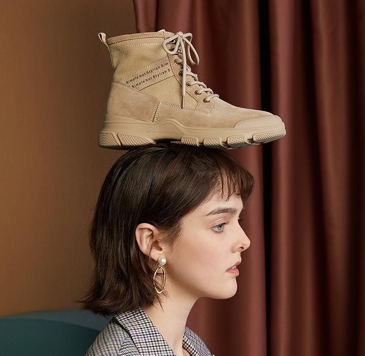 BASTO 百思图 PDP23DD9A 女士工装靴