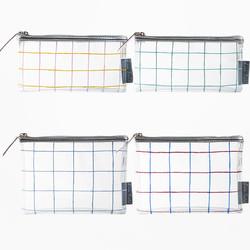 KOKUYO 国誉 格子印象 透明笔袋 175*93*15mm