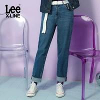 LeeXLINE女2019秋冬新款水洗高腰修身小直脚牛仔裤LWZ4112VA54R