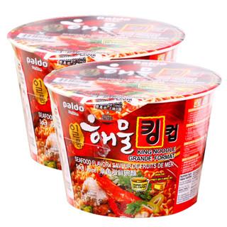 韩国进口 八道(PALDO)方便面拉面 章鱼海鲜碗面 泡面 110g*2碗