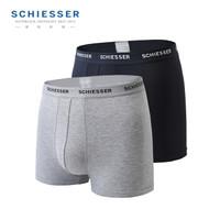 SCHIESSER 舒雅 35/11627T 男士冰丝中腰平角内裤 2条装 *3件