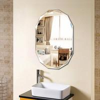 华恺之星 穿衣镜子 无框粘贴墙壁挂墙浴室镜梳妆镜 晶钻斜边6045#