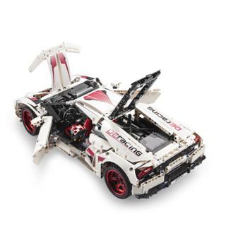 双鹰 C61018 兰博基尼赛车模型 C61018-(1696颗粒)-LP610跑车